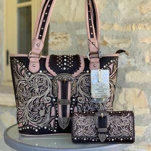 Montana west conceal carry handbag&wallet